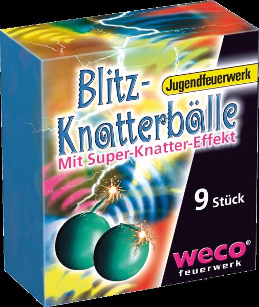 WECO Jugendfeuerwerk Blitz Knatterbälle 9er