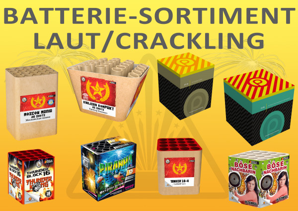 Batterie-Sortiment laut/crackling