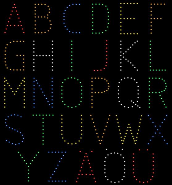 Lichterbild Buchstaben
