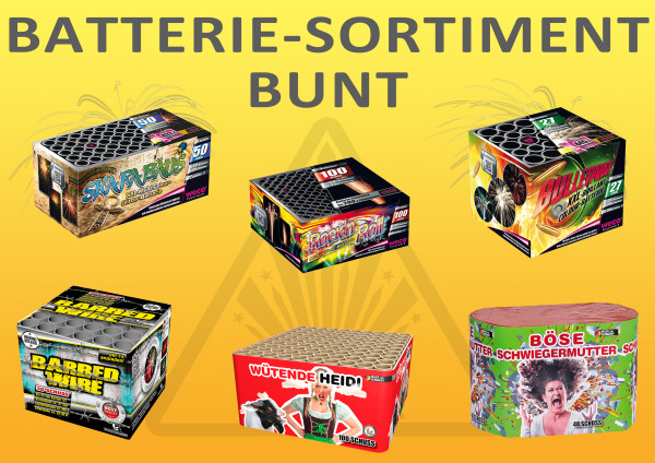 Batterie Sortiment bunt