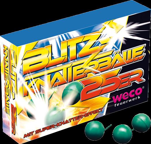 WECO Jugendfeuerwerk Blitz Knatterbälle 25er