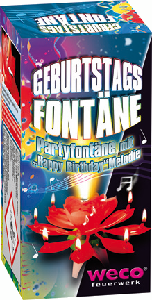 WECO Jugendfeuerwerk Geburtstagsfontäne