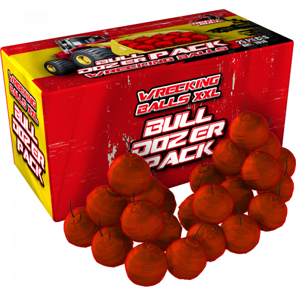 25 Crackling Balls XXL