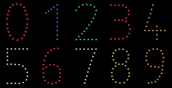 Lichterbilder Zahlen