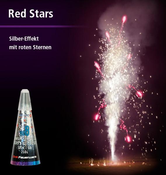 Zink Vulkan Silber & rote Sterne No. 8